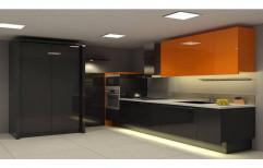 Modern Modular Acrylic Kitchen, Warranty: 10-15 Years