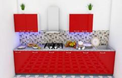 Modern Straight HDMR Modular Kitchen