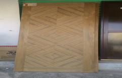 Natural Teak Veneer Diamond Door, Size/Dimension: 78x32