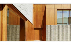 Plain Brown Wooden HPL Cladding, Thickness: 5 Mm