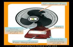 Plastic/Fibre Solar Hybrid Table Fan