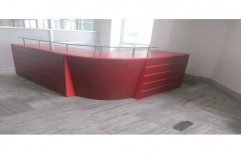 Red Ply Board Reception Counter