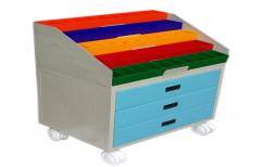 Shree Multicolor Hospital Medicine Trolley, Size: 3-3.5 Feet Height