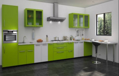 Stainless Steel L Shape Modular Kitchen, Warranty: 1-5 Years