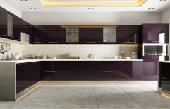 Stainless Steel U Shape Modular Kitchen