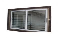 VMK White Aluminium Sliding Window, For Residential