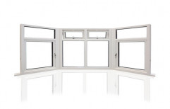 White Upvc Bay Window, 10 Mm, Size/Dimension: 10 x 6 Feet
