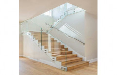 AS Fabrication Glass Cantilever Staircase