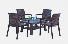 Black Plastic Dining Table Set, for Home