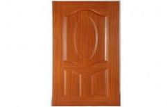 Brown Moulded PVC Door, Height: 7 feet