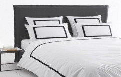 Cotton Double Hotel Bed Sheet, 1 Bedsheet,2 Pillow Covers