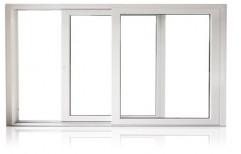 Eternia White 3 Track Aluminium Sliding Window, For Home