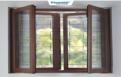 Fenesta Hinged UPVC Villa Window, Glass Thickness: 5-8 Mm