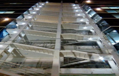 Ms Steel Spiral,Straight Run Emergency Fire Exit Staircase