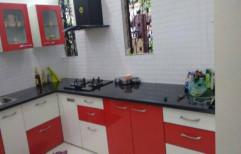 PVC L Shape Godrej Residential Modular Kitchen Cabinets