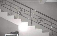 Stainless Steel Railing, For Home, Mounting Type: Floor