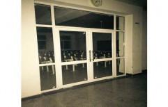 Standard Silver Aluminium Door, Thickness: 5 Mm, Material Grade: 18 Grade
