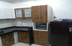U Shape Wooden Modular Kitchen
