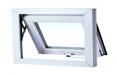 White (Frame) UPVC Top Hung Window, Glass Thickness: 4mm