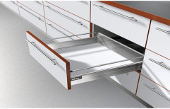 White Tandem Drawer Modular Kitchen