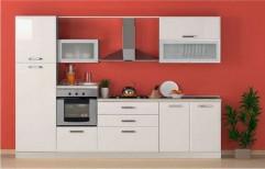 Wooden L Shape German Modular Kitchen, Warranty: 5-10 Years