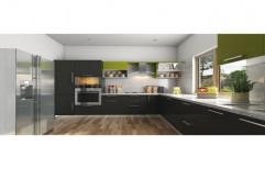 Wooden L Shape L Shaped Modular Kitchen, Warranty: 5-10 Years