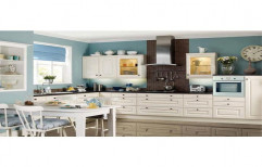 Wooden Residential L Shape Modular Kitchens, Warranty: 1-5 Years