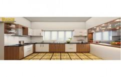 Wooden Residential Modular Kitchen, Kitchen Cabinets