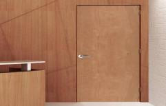 Brown Polished Wooden Door