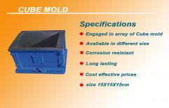 Cast Iorn Concrete Cube Mould, Size: 15cmX15cmX15cm