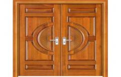 Double Door Designer Wooden Door