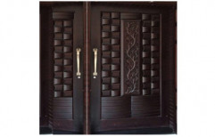 Finished Exterior,Interior TEAKWOOD DOUBLE DOOR, Size: Various