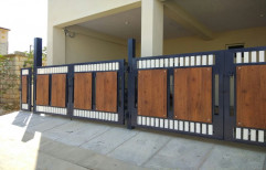 Groove finish HPL Gate Cladding, Thickness: 11 Mm