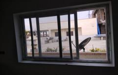 Kinbon White UPVC Sliding Window, Glass Thickness: 5-6 Mm