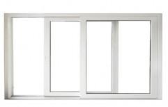Modern Powder Coated White Aluminium Sliding Window, For Office, Size/Dimension: 3x4 Feet