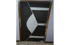 Polished Decorative Wooden Door, Thickness: 25 To 30mm
