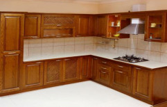 Residential Wooden Modular Kitchen, Warranty: 1-5 Years