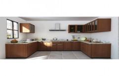 Sal Wood U Shape Modular Kitchen
