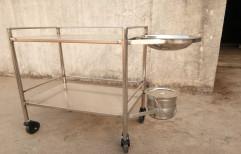 SEPL Stainless Steel Hospital Dressing Trolley