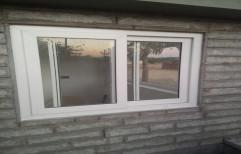 simta White UPVC Sliding Window, Glass Thickness: 6 Mm