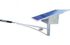 SMA Chrome Solar LED Street Light