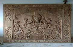 Teak Wood Carving Door, Size: 3.5feet *6 Feet,2 Inch Depth