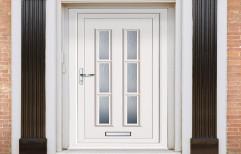 Toughened Glass Designer UPVC Door, Size/Dimension: 7 Feet * 4 Feet