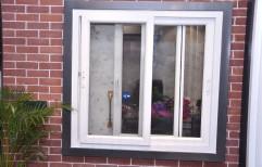 Upvc White Sliding Windows, Multichamber