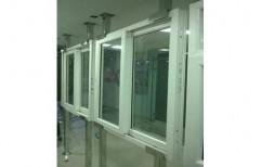 White Commercial UPVC Sliding Window