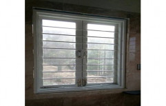 White Gi french Hinged Window