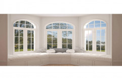 White Modern UPVC Arch Window