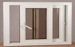White Plain UPVC Casement Window for Residential