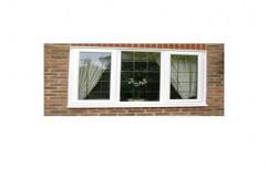 White UPVC Fixed Window, Glass Thickness: 5 Mm
