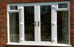 White UPVC French Windows, Glass Thickness: 4 Mm